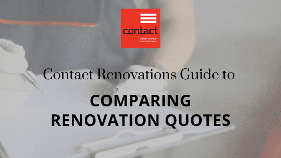 Comparing Renovation Quotes
