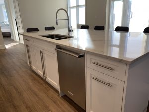 Kitchen island dishwasher