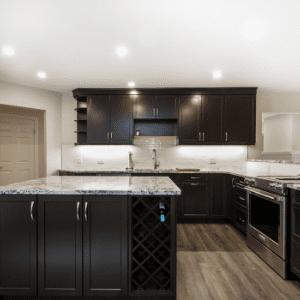 Bright condo kitchen