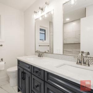 Modern bathroom renovation to increase home value