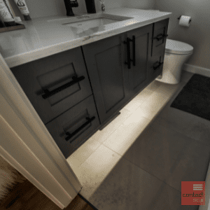 Under cabinet lighting for bathroom