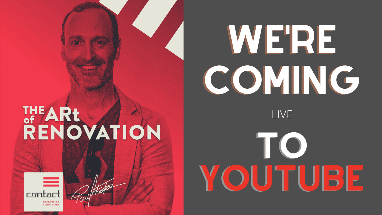 the art of renovation live! is moving to youtube blog header