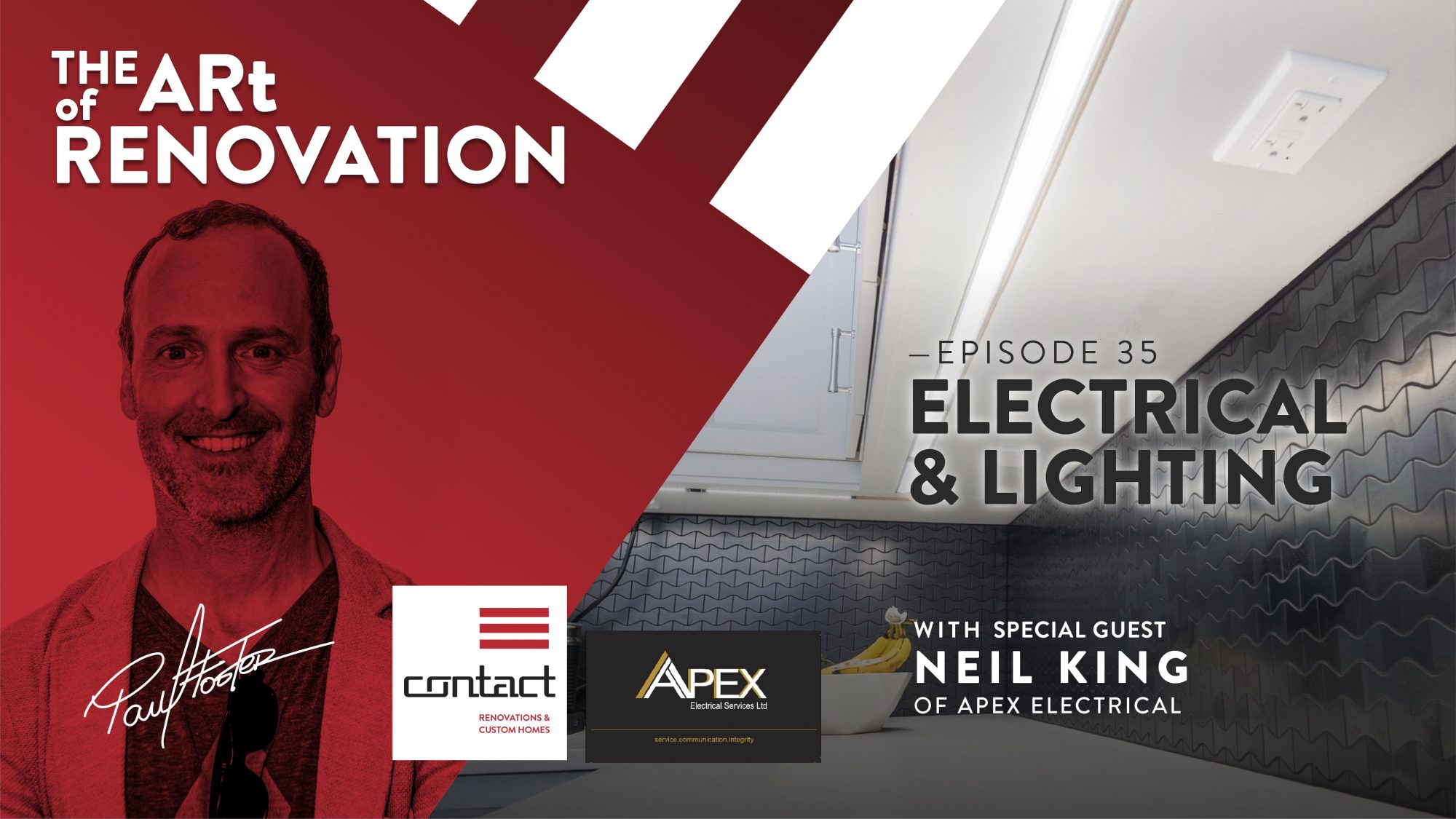 Electrical planning and lighting inspiration The Art of Renovation LIVE!