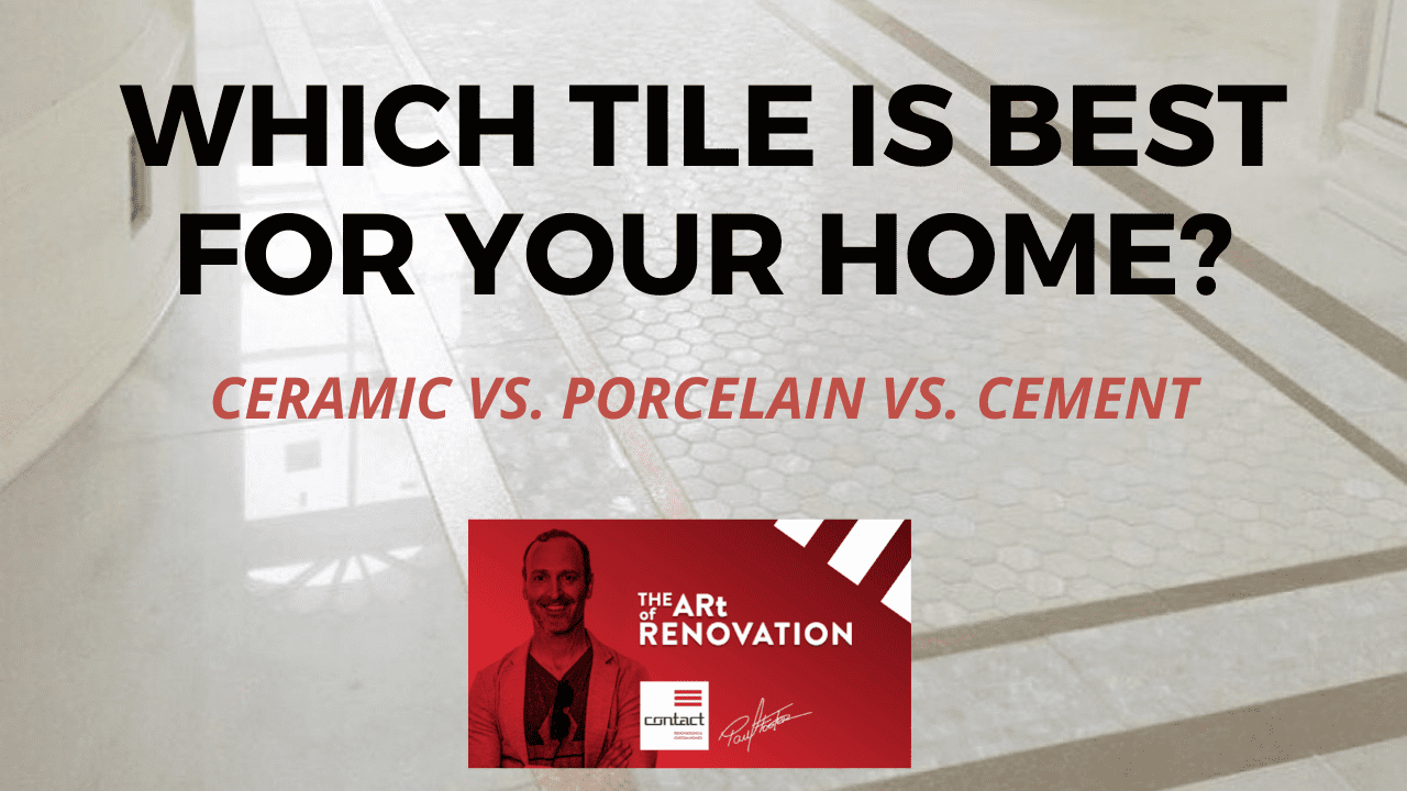 Which tile is best for your home? Ceramic vs porcelain vs cement YouTube thumbnail
