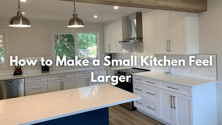 how to make a small kitchen feel larger